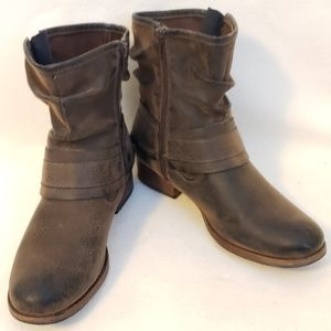 Crown Vintage Beauty Moto Boots